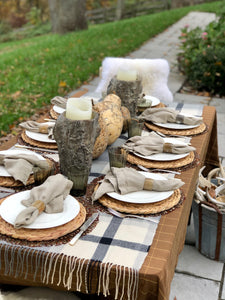 Stonewashed 100% Linen Napkins in Ecru (Set of 8) | Table Terrain build your own tablescape, custom tablescapes, modern table centerpieces, elegant table centerpieces