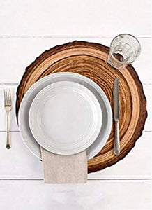 Log Paper Placemats | Table Terrain winter table centerpieces, simple candle centerpieces, inexpensive table centerpieces