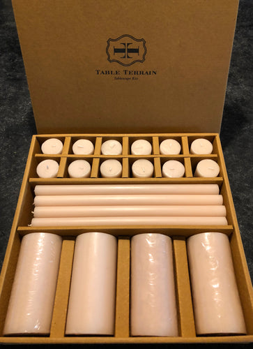 Boxed set of 28 candles