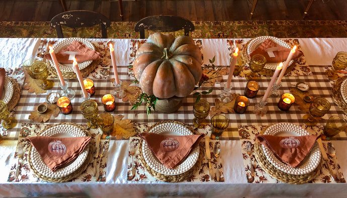 Legends of the Fall Tablescape Kit- Thanksgiving Toile