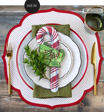 Red Dot Paper Placemats-Set of 12 | Table Terrain January tablescapes, men's table decorations, kitchen table arrangements