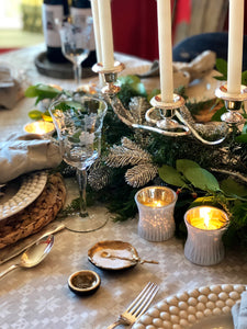 Winter Woodland Tablescape Kit Standard Edition w/Ecru Napkins | Table Terrain white tablescapes, holiday table settings Christmas, winter wonderland table centerpieces