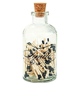 Apothecary Medium Match Bottle-Ignite | Table Terrain January tablescapes, men's table decorations, kitchen table arrangements
