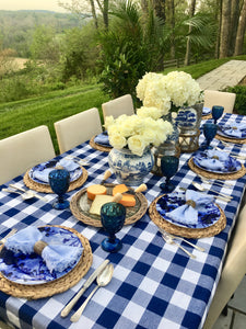 You Blue Me Away Tablescape Kit w/ Vases | Table Terrain blue and white tablescape kit, non floral centerpieces for dining room tables, centerpieces for long rectangular tables