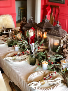 Winter Woodland Tablescape Kit Saint Nick Edition | Table Terrain Christmas party table decorations, elegant winter table centerpieces, table candelabra centerpieces