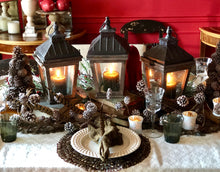Pinecone Garland | Table Terrain winter table centerpieces, simple candle centerpieces, inexpensive table centerpieces