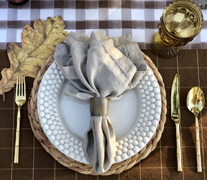 Napkins, Taupe Stonewashed (Set of 8) 100% Linen