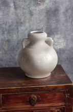 Antiqued White Sand Glaze Rustic Vase-Two Handled | Table Terrain January tablescapes, men's table decorations, kitchen table arrangements