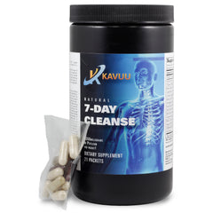 "New Colon Cleanse Lowering Formula, Cleanser Detox - Kavuu 7 Day ""New"" Rapid Natural High Potency Organic Flaxseed Oil, Cape Aloe - 21 ""Pre-Packs"" (10 Caps, 2 Softgells, 4350 mg Of Psyllium Per Pk.)"