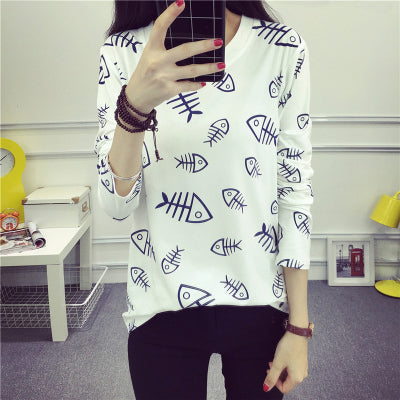 Fashion Women camouflage T shirt 2017 New fall Cute young girl Child Printed Tee Shirt Femme Long Sleeve spring Tops Creative