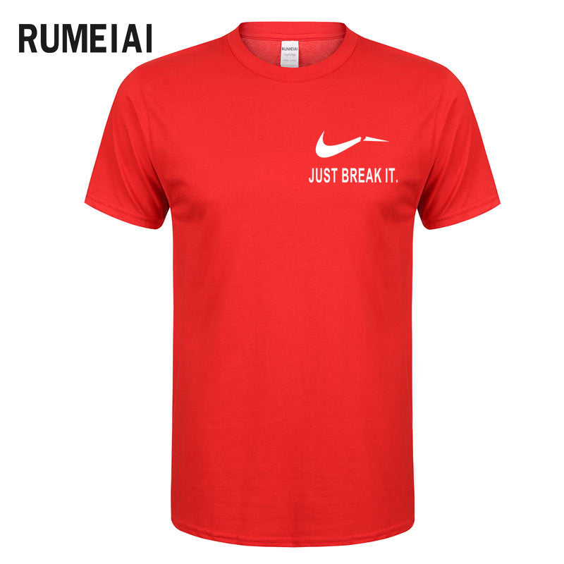 RUMEIAI Fashion Men T-Shirts Male US Size T shirt Homme Summer cotton Short Sleeve T Shirts Brand Men's Tee Shirts Man Clothes