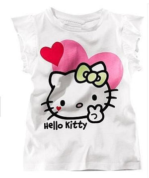 COSPOT Baby Girls Summer Hello Kitty Tshirt Girl Cute Cotton T-shirt 2017 New Arrival 10C