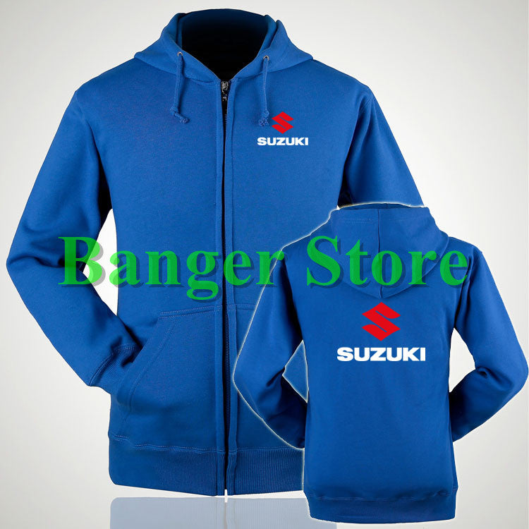 2 styles SUZUKI hoodie clothes riding clothes sweatshirts coat male and female couple