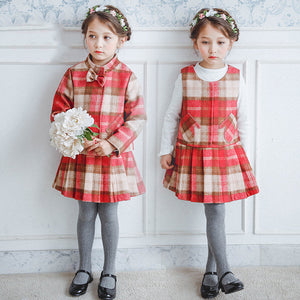 2017 Children Clothing Girl Winter Clothes Warm England Pliad Design New Year Things for Teens Kids Age456789 10 11 12 Years Old