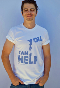 You Can Help Men White T-shirt