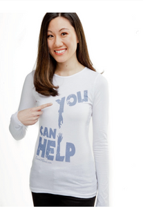 You Can Help Women White Long Sleeve