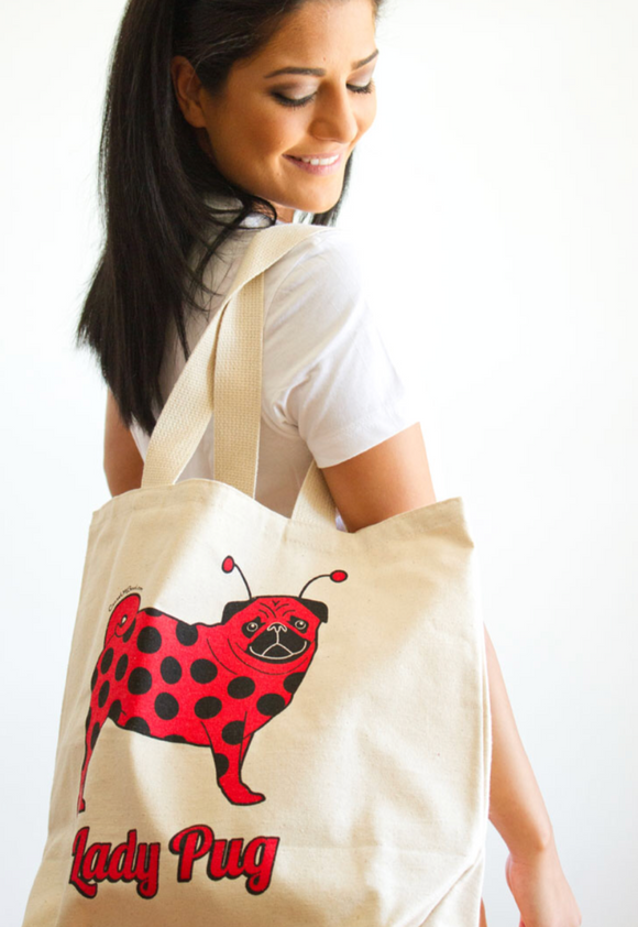 Lady Pug® Tote Bag