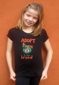 Adopt Girls Black T-shirt
