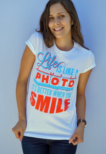 Life Is Like A Photo Women White T-shirt