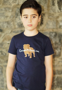 Dog Shape Boys Navy T-shirt