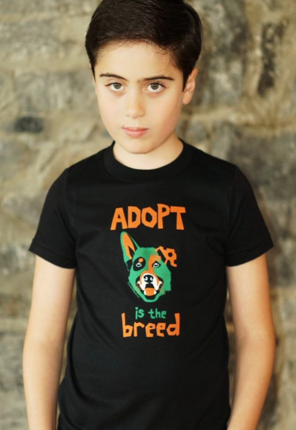 Adopt Boys Black T-shirt