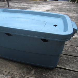 Simple worm farm bin
