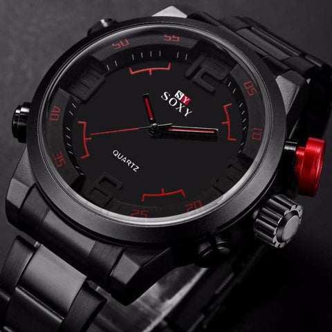 Mens Luxury Army Sport Wrist Watch Waterproof Analog Quartz Watches - Wizard Watches