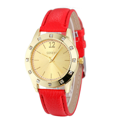Watch Women Ladies Luxury Diamond Leather - Wizard Watches