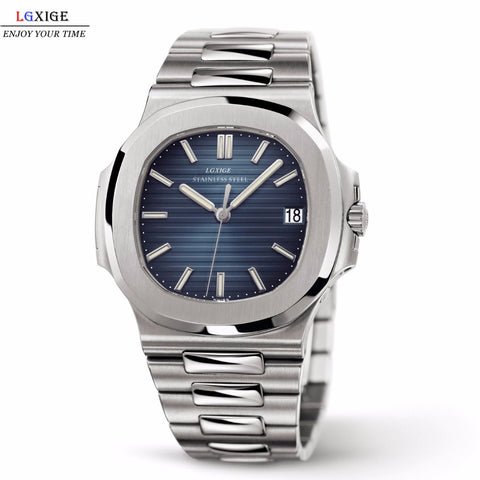 Mens Top Brand Luxury Full Steel Military Wrist Watch Men Patek 30m Waterproof watches - Wizard Watches