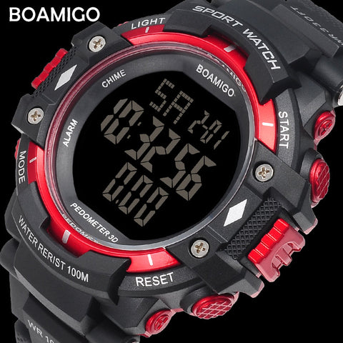 Men sports  brand pedometer calories LED digital watches swimming wristwatches - Wizard Watches
