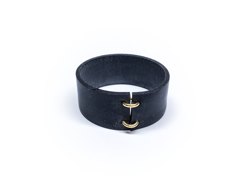 Black Rubber Ring Jewelry Fashion Bague en caoutchouc