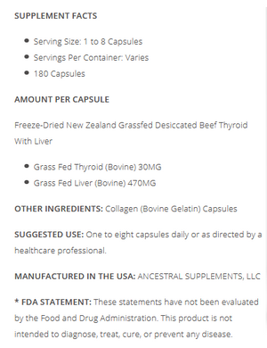 Grassfed Beef Thyroid