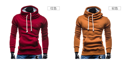 Spring Autumn Hoodie - Solid Color Turtleneck