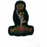 Beret Badge B/W Officers Royal Sig - Green