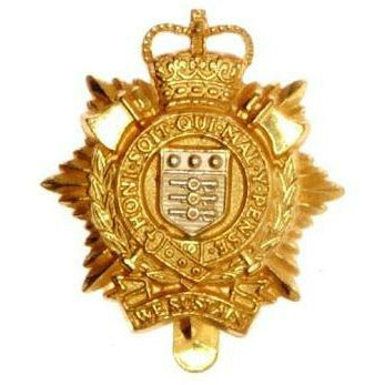 Cap Badge - RLC - Glit Plate with S/P Shield - V-Hook