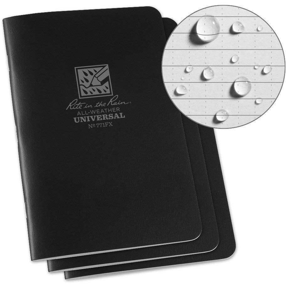 Rite in the Rain Pocket Notebook 4-5/8 x 7 - Black