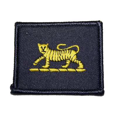 Ammo & Co Arm Badge - PWRR - Tiger on Navy Backing-55mm x 45mm