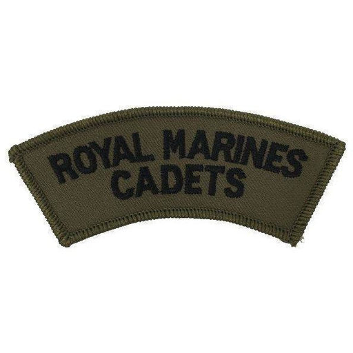 Ammo & Co Cadet Shoulder Titles & Collar Badges Royal Marines Cadets Shoulder Title - Black on Olive