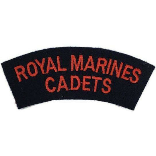 Royal Marines Cadets Shoulder Title - Red on Black Shoulder Titles & Collar Badges Ammo & Company - Military Direct