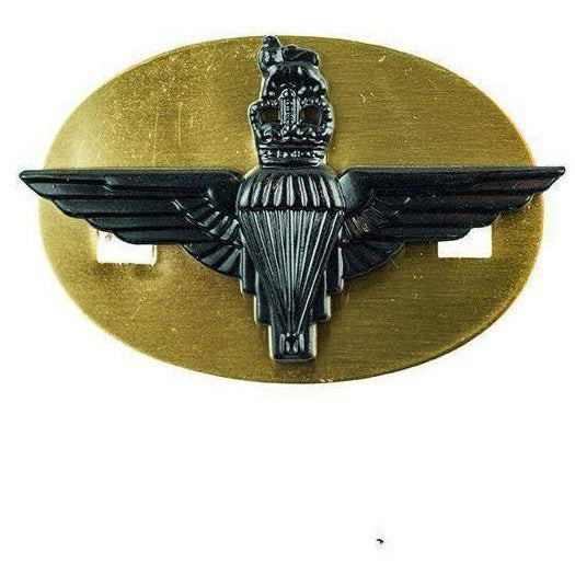 Cap Badge - PARA Reg - Black - S & P - w. Back Plate [product_type] Ammo & Company - Military Direct