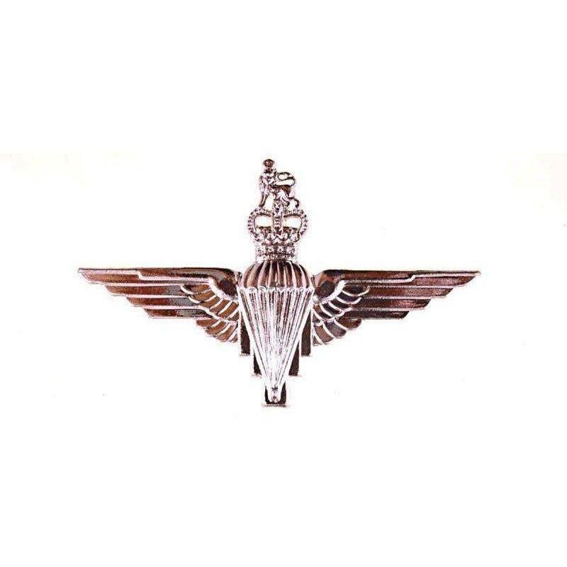 Cap Badge - PARA Reg - NS - S & P - w. Back Plate [product_type] Ammo & Company - Military Direct