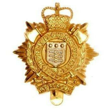 Cap Badge - RLC - Glit Plate with S/P Shield - V-Hook [product_type] Ammo & Company - Military Direct