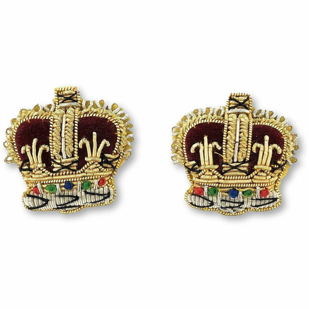 Embroidered Rank Crowns- Gold & Silver - 3/4 inch [product_type] Ammo & Company - Military Direct