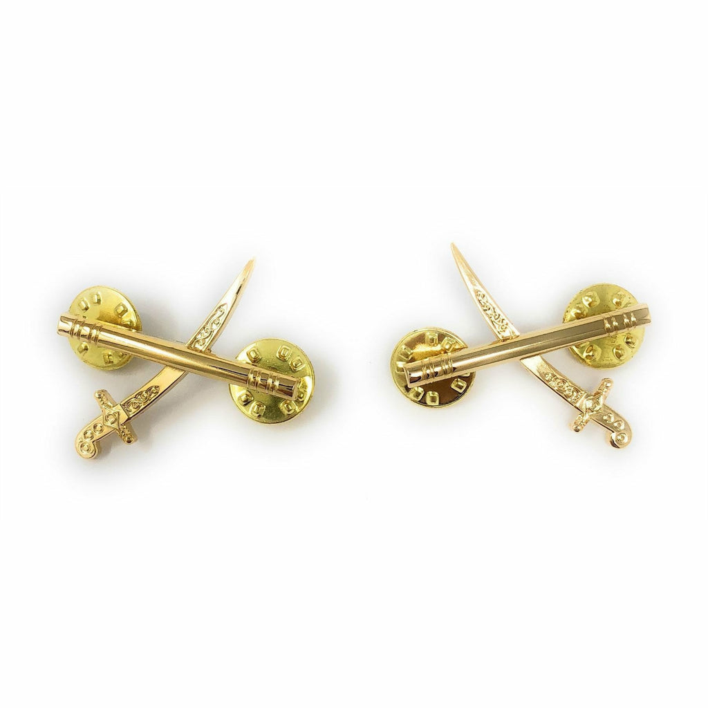 Generals' Crossed Sword & Baton Badges - Pair [product_type] Ammo & Company - Military Direct