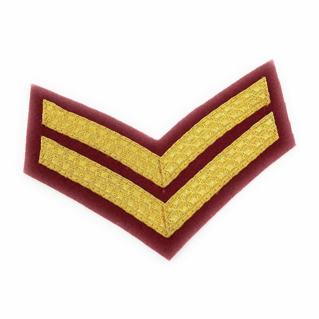 Mess Dress - Chevrons -Gold on ME307 Medical Maroon Ground- Cpl [product_type] Ammo & Company - Military Direct