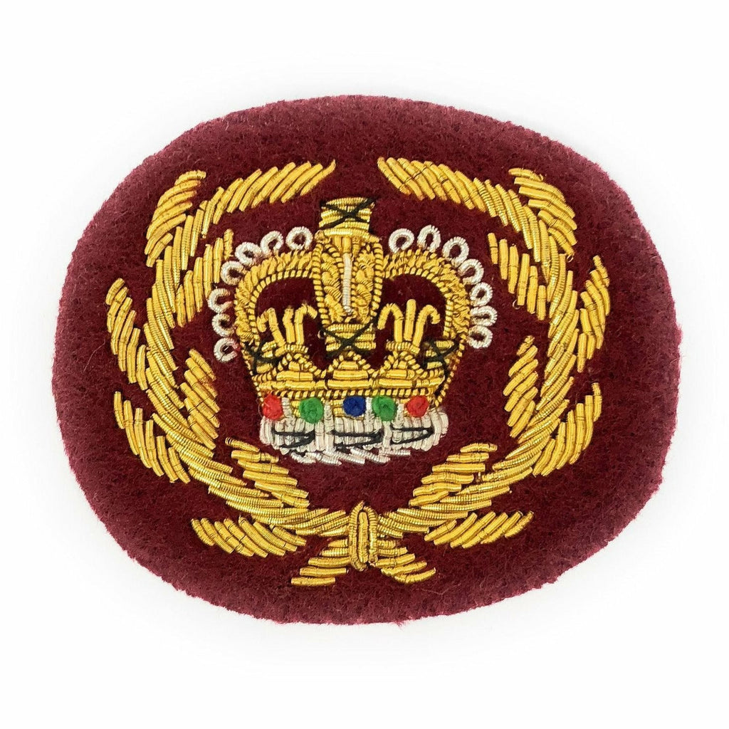 Mess Dress Crown - RQMS - ME307 Medical Maroon Ground
