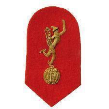 Mess Dress- Qualification Badge- - Jimmy - Gold on Scarlet Ground [product_type] Ammo & Company - Military Direct