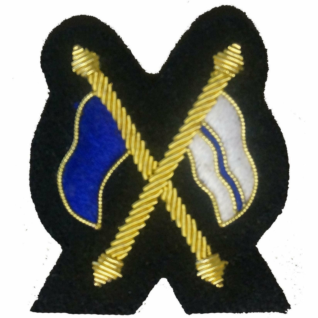 Mess Dress- Qualification Badge - Signaller (X Flags)  - Black Ground [product_type] Ammo & Company - Military Direct