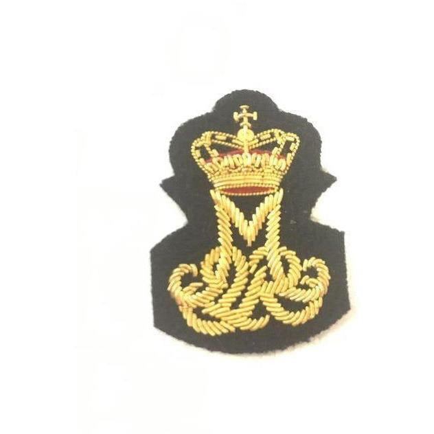 Queen Margrethe II - Royal Cypher Badge - Mess Dress - Bullion Wire on Navy [product_type] Ammo & Company - Military Direct