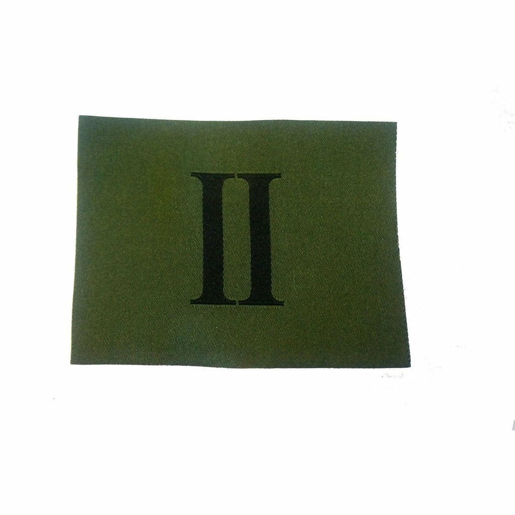 RGR - 'II' Badge  - Black on Olive - Worn on Jungle Hat - 60m x 80mm [product_type] Ammo & Company - Military Direct